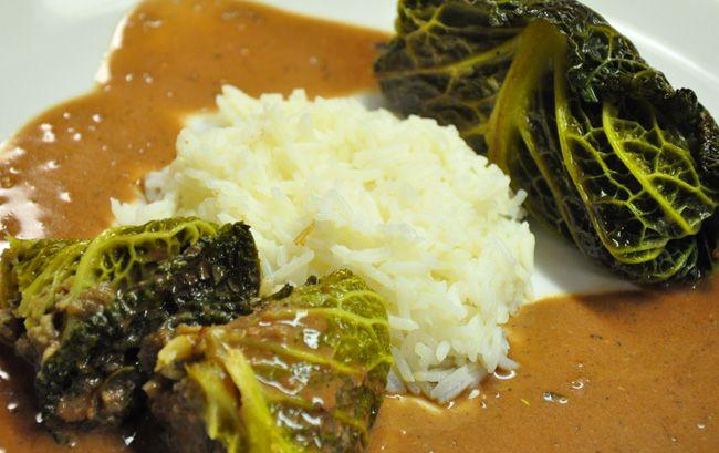 Wirsingrouladen mit Maronen – Gemüse – Füllung