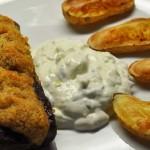 Lammrücken mit Thymiankruste Backofenkartoffeln und Zaziki kochschläger