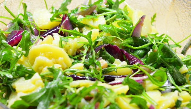 Kartoffel - Rauke - Zwiebel - Salat - kochschläger