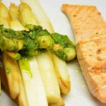 Spargel-Lachs-Shrimps-Pesto